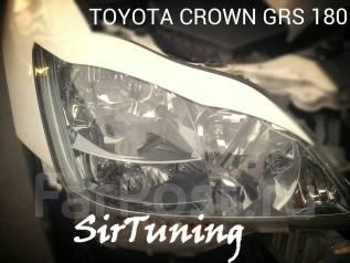 Накладка на фару. Toyota Crown, GRS188, UZS187, UZS186, GRS182, GRS184, GRS180, GRS183, GRS181. Под заказ