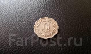 Пакистан. 10 пайс 1971 года. Необычная форма монетки!