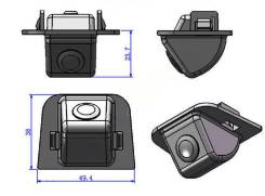 Камера заднего вида для Toyota Prius 2012