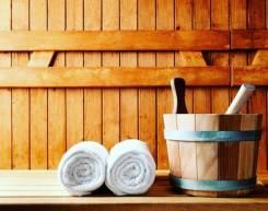 Уютна баня на дровах с террасой и и мангалом