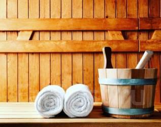 Уютная баня на дровах с терассой и мангалом.
