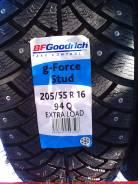 BFGoodrich g-Force Stud. Зимние, шипованные, 2018 год, без износа, 4 шт