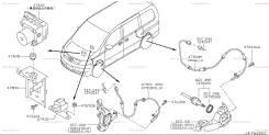 Датчик abs. Nissan Serena, C25, CNC25, NC25, CC25 Двигатель MR20DE