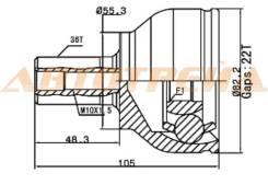 Шрус наружний MA-40 Mazda 3 / Axela 1.5 / 2.0 (ZY / LF) BK# 03-05 MA-40 FG01-25-600F FG01-25-500E FR01-25-60X GG25-25-500E GR25-25-50XB FG01-25-600E F...