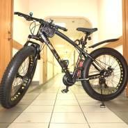Велосипед Фэтбайк,24скорости Snimano, дисковые тормза, колёса26х4.0
