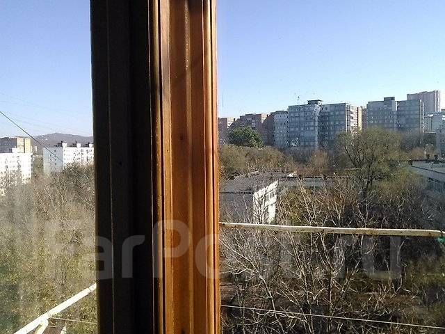 Гостинка, улица Гамарника 21. Столетие, проверенное агентство, 24 кв.м. Вид из окна днём