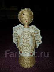 Новогоднее украшение Ангел из шпагата. 400 руб.