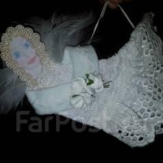 Новогоднее украшение Ангел с перьями. 150 руб.
