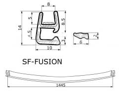 Молдинг лобового стекла. Ford Fusion