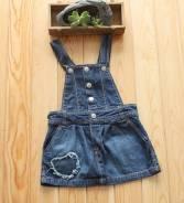 Сарафаны джинсовые. Рост: 110-116, 116-122 см