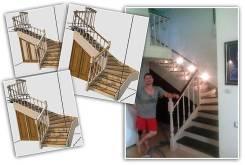 Деревянные лестницы. Изготовление, доставка, установка. Гарантия 5 лет.
