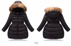 Пальто-пуховики. Рост: 116-122, 122-128, 128-134 см