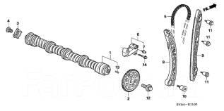 Успокоитель цепи ГРМ. Honda: Accord, CR-V, FR-V, Accord Tourer, Stream, Civic, Crossroad Двигатели: J35Z2, K24Z2, K24Z3, N22B1, N22B2, R20A3, K24Z1, K...
