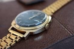 Часы Слава времен СССР с браслетом позолота AU10 винтаж. Оригинал