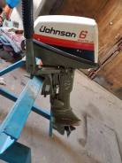 Johnson. 6,00л.с., 2х тактный, бензин, нога S (381 мм), Год: 1997 год