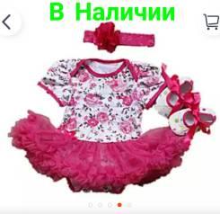 Боди-платья. Рост: 60-68, 68-74 см