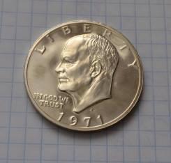1 доллар 1971 года Эйзенхауэр Лунный Серебро Пруф Обмен!