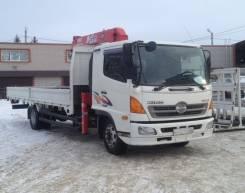 Hino 500. Продается бортовой грузовик с манипулятором , 7 700 куб. см., 3 030 кг., 12 м.