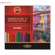 """Пастель сухая, Koh-I-noor, """"Toison Dior"""", 24 цвета"""