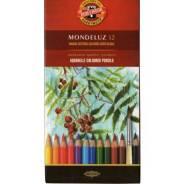 """Акварельные карандаши, Koh-I-noor, """"Mondeluz"""", 12 цветов"""