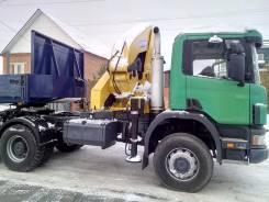 Scania. Тягач вездеход P124 6x6 манипулятор effer 12т полуприц. 12м, 1 000 куб. см., 20 000 кг.
