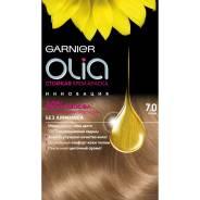"""Стойкая крем-краска для волос """"Olia"""" без аммиака, оттенок 7.0, Русый, Garnier, 160 мл"""