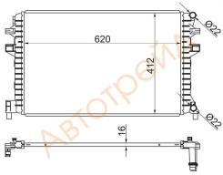 ST-5Q0121251EJ SAT Радиатор дополнительный AUDI A3/S3 12-/SKODA OCTAVIA 13-/VOLKSWAGEN GOLF 12-