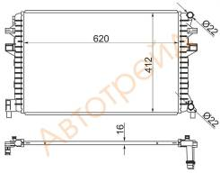 Радиатор интеркулера AUDI A3/S3 12-/SKODA OCTAVIA 13-/VOLKSWAGEN GOLF 12- ST-5Q0121251EJ SAT