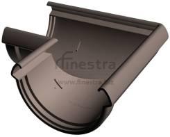 Водостоки Docke LUX Угловой элемент 90° (шоколад)
