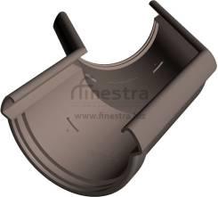 Водостоки Docke LUX Угловой элемент 135° (шоколад)
