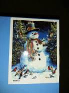 Картина по номерам Снеговик