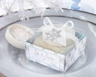 Оригинальный подарок-мыло Снежинка