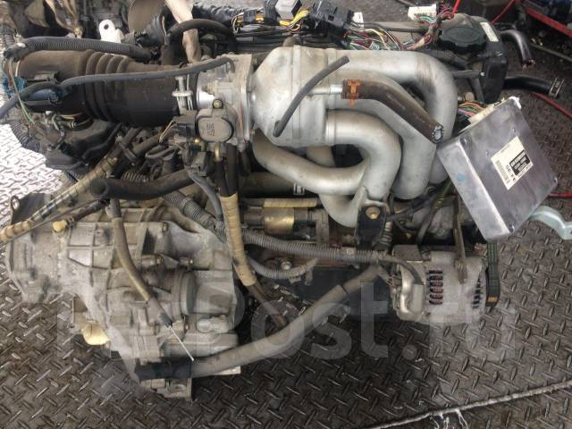 Двигатель в сборе. Toyota: Raum, Corsa, Paseo, Cynos, Sprinter, Corolla, Tercel, Corolla II, Caldina Двигатель 5EFE