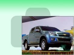 Лобовое стекло Chevrolet D-MAX 2012- () (Зеленоватый оттенок с зеленым козырьком, Бренд:FУG)