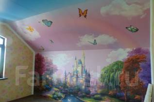 Фотопечать на обоях, фресках, потолках, холсте