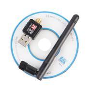 Безпроводной Mini USB Wifi адаптер 150Mbps 2dB WiFi антена