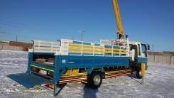 Hino Ranger. Полная Пошлина кран-манипулятор с корзиной и гидробортом HINO Ranger, 8 000 куб. см., 5 000 кг.