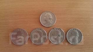 5 монет Liberty quarter dollar перевертыши разных годов