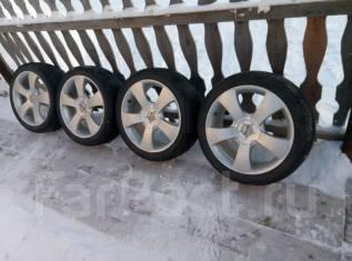 Бюджетный комплект колес лето 215/45 R17 на литье 5*100 и 5*114.3 ЕТ48. 7.0x17 5x100.00, 5x114.30 ET48 ЦО 73,0мм.