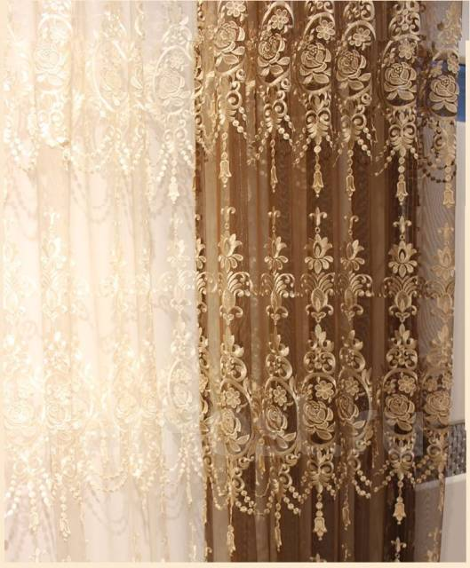 Элитный тюль с вышивкой