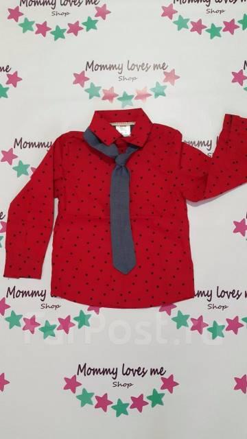 Модная рубашка с галстуком. Рост: 104-110 см