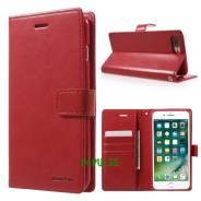 Чехол-книжка с магнитной застежкой Mercury для iPhone 7 PLUS Красный
