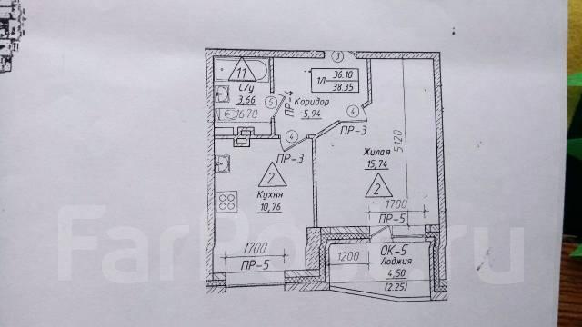 1-комнатная, улица Сергея Ушакова 8д стр. 1. Междуречье, частное лицо, 39 кв.м.