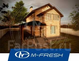 M-fresh November (Посмотрите проект комфортного дома! ). 100-200 кв. м., 2 этажа, 4 комнаты, дерево