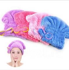 Махровая шапочка для сушки волос после душа