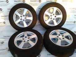 """Комплект литых дисков """"Violento"""" на зимней резине Dunlop 215/60R16. 6.5x16 5x114.30 ET48"""