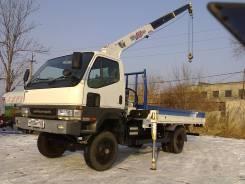 Mitsubishi Canter. Mitsubishi canter 4WD мостовой рессорный борт кран, 5 200 куб. см., 3 000 кг.