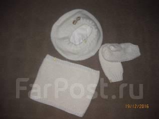 Шапка и шарф. Рост: 128-134 см