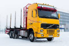 Volvo FH 12. Лесовоз Volvo FH12 6x4 D12C 460 + 4-х осный прицеп Briab, 12 000 куб. см., 40 000 кг.