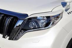 Накладка на фару. Toyota Land Cruiser Prado, KDJ150L, GDJ150L, GDJ151W, GRJ150W, GDJ150W, TRJ12, GRJ151W, TRJ150W, GRJ150L Двигатели: 1KDFTV, 1GDFTV...